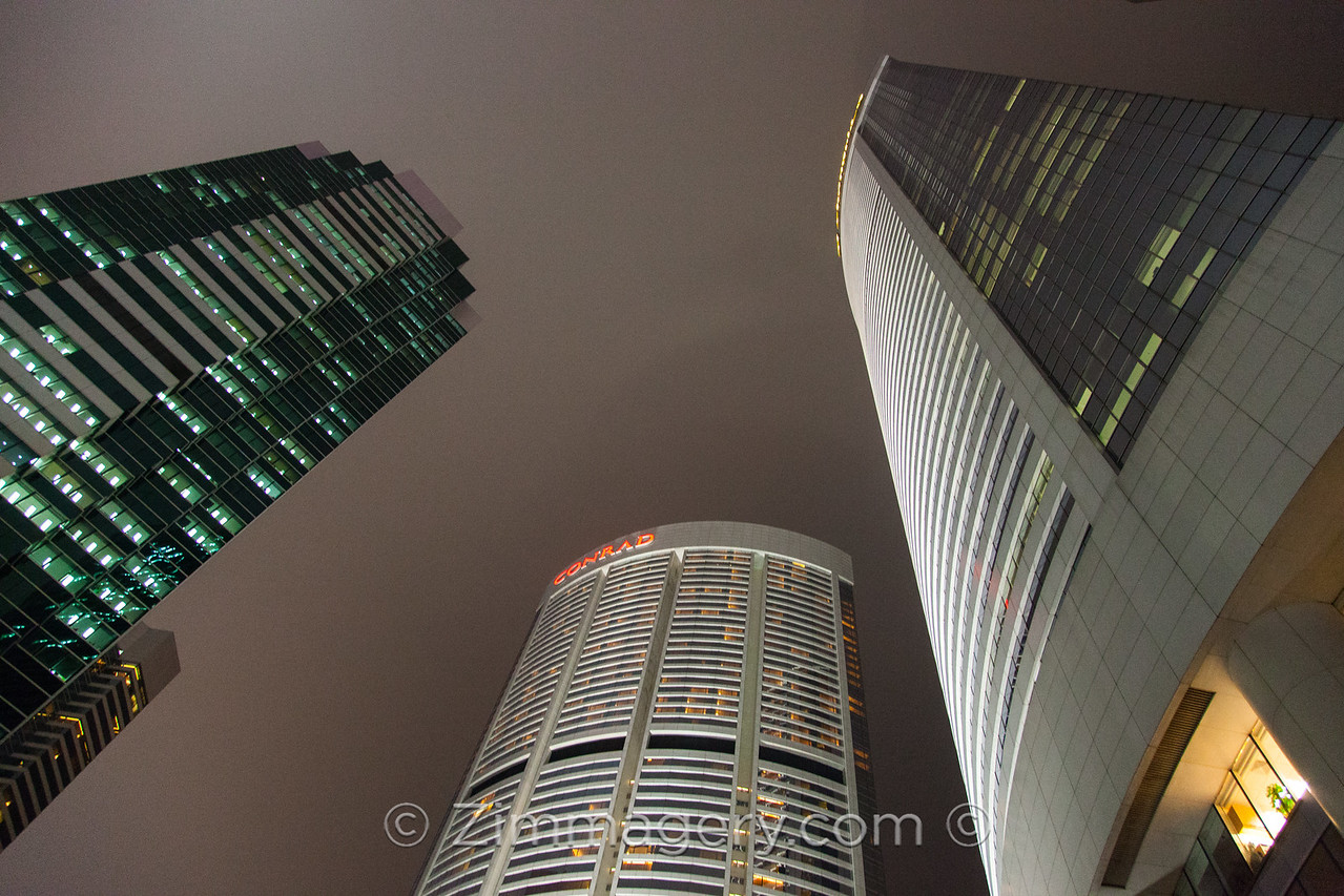 Three Sky Scrapers, Hong Kong