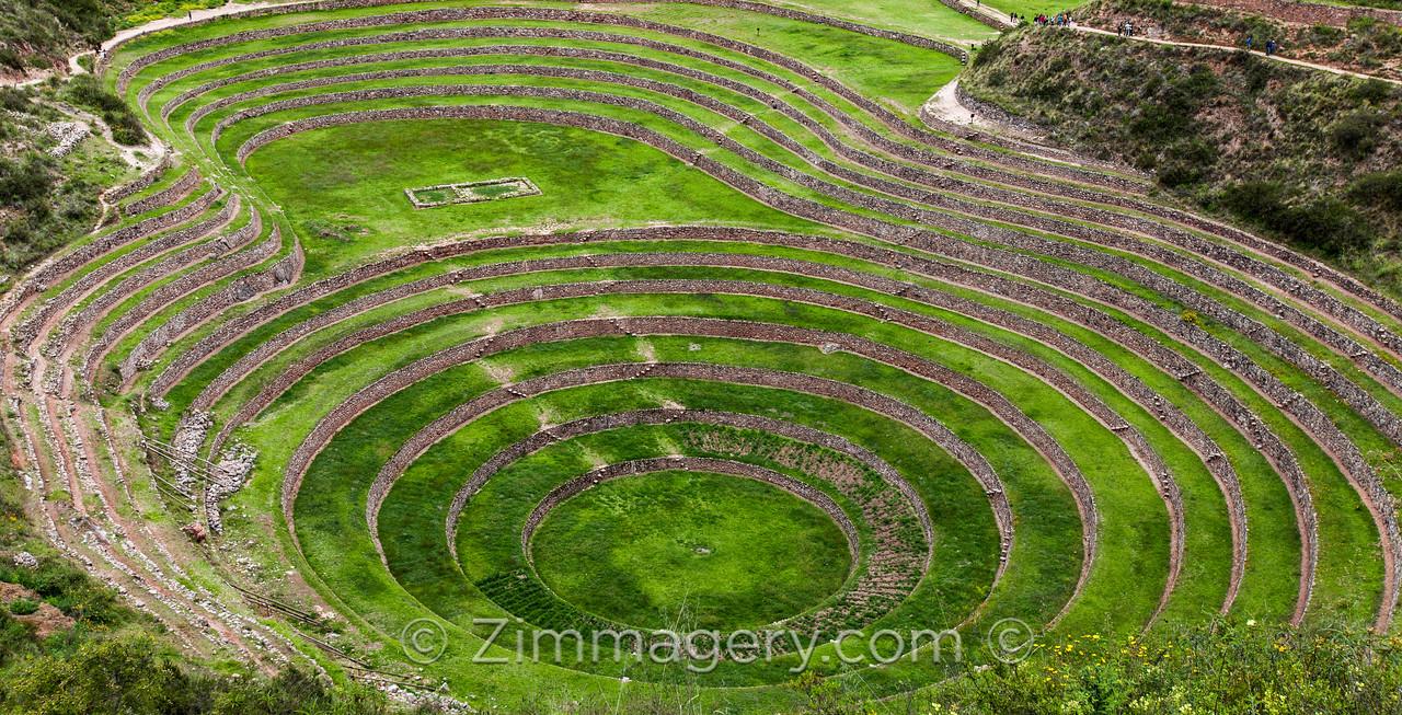 Widest Shot Moray Circles, Peru