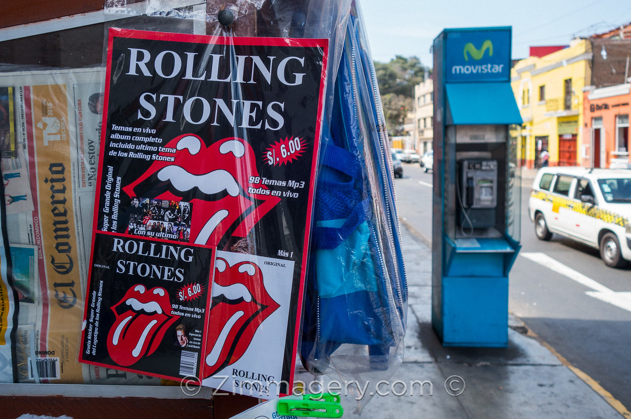 Rolling Stones ad, Lima Peru, 2016