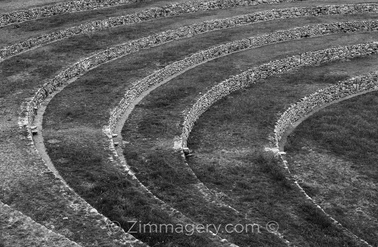 B&W Moray Circles, Peru