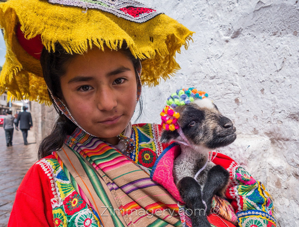 Young Girl with Baby Goat, Cusco, Peru