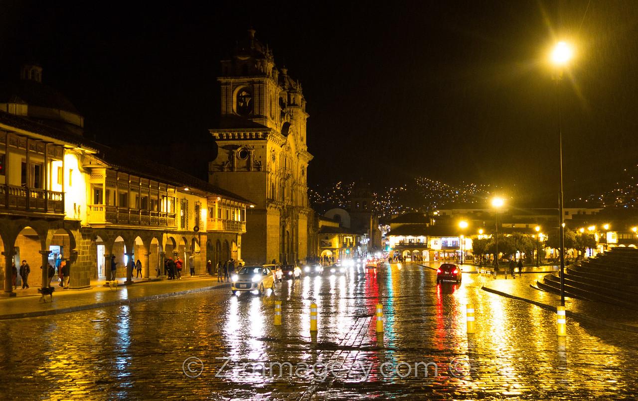 Rainy Night in Cusco, Peru