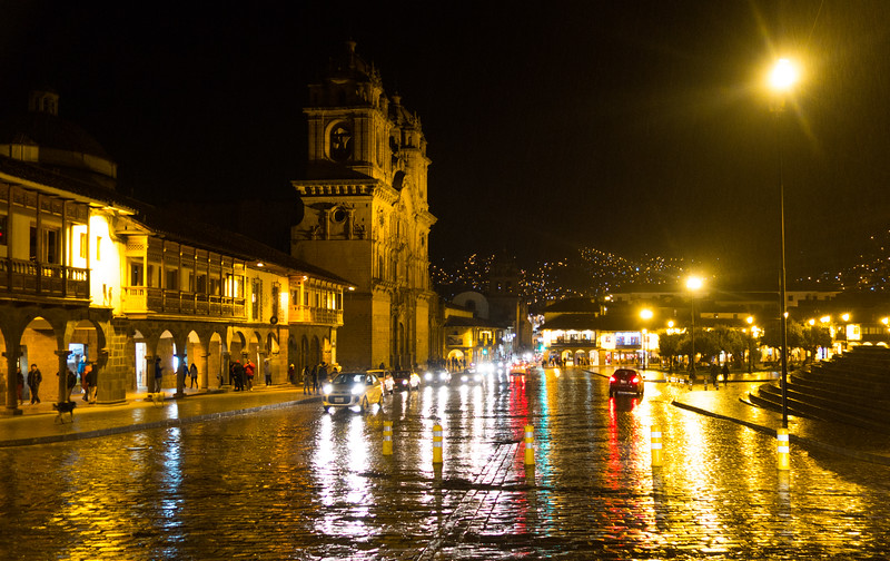 Rainy Night in Cusco, Peru