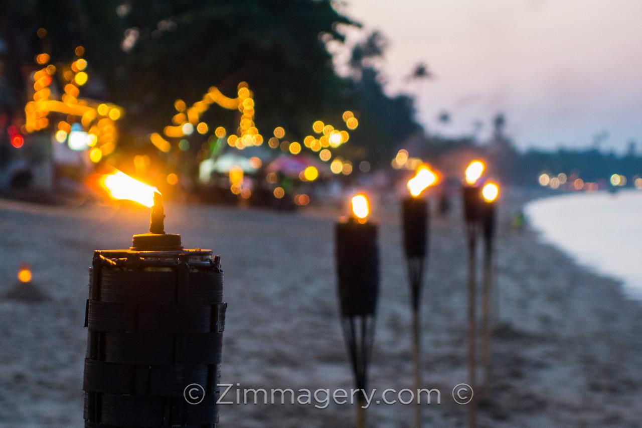 Beach Torches, Koh Samui, Thailand