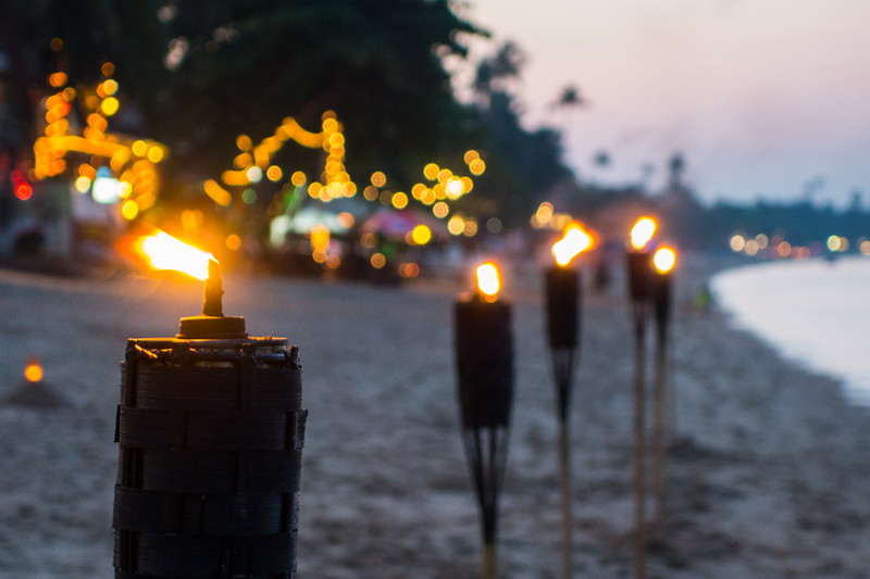 Beach Torches, Koh Samui, Thailand