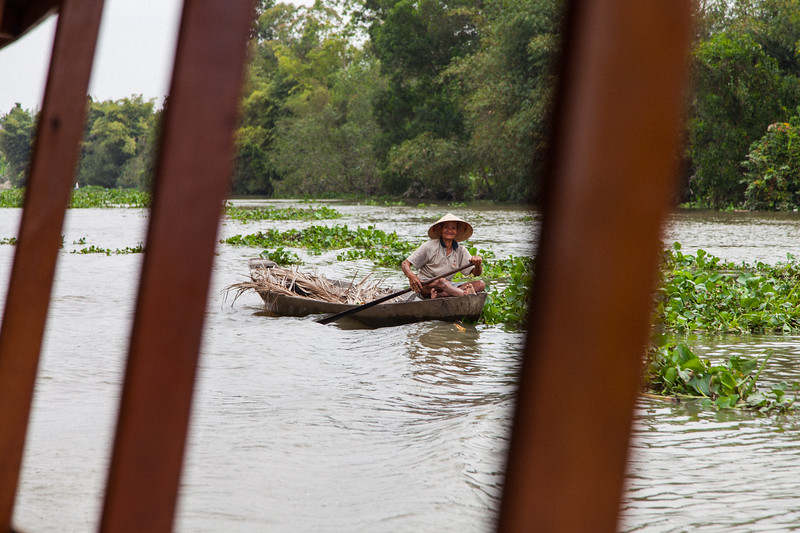 Happy Man in Boat, Mekong Delta, Vietnam