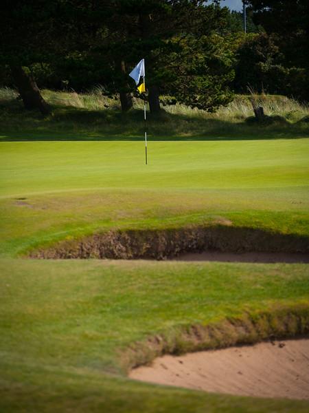 18th hole Glasgow Gailes Golf Club