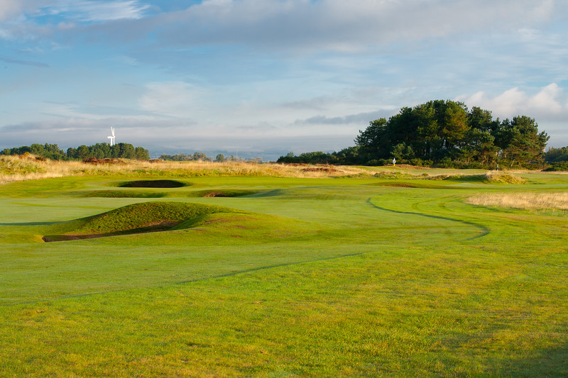 Bunkers on the 1st hole at Glasgow Gailes Golf Club