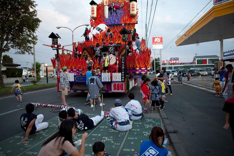 Misawa Dashi goudou yakan unkou Festival 21.Aug.2009