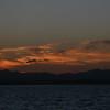 Sunset over Lake Ogawaraka, taken from the base beach.
