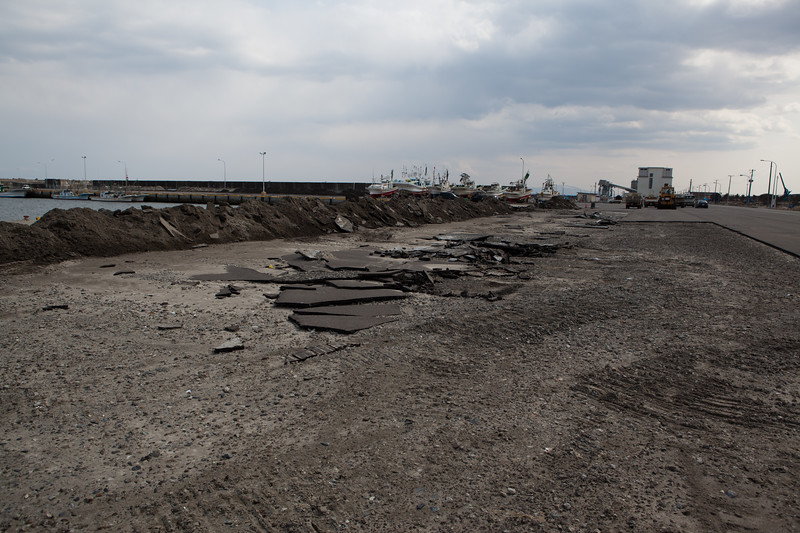 Misawa port 10 days after the big earthquake