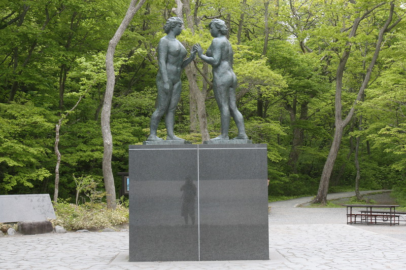 This is the entires statue of the Two Maidens