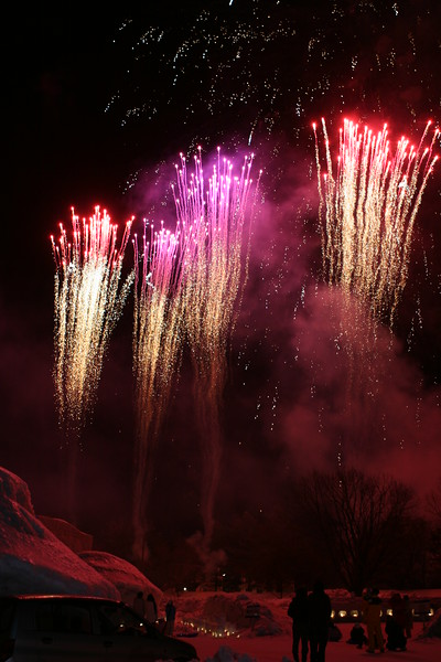 light show, Fireworks at the Lake towada fire and ice festival