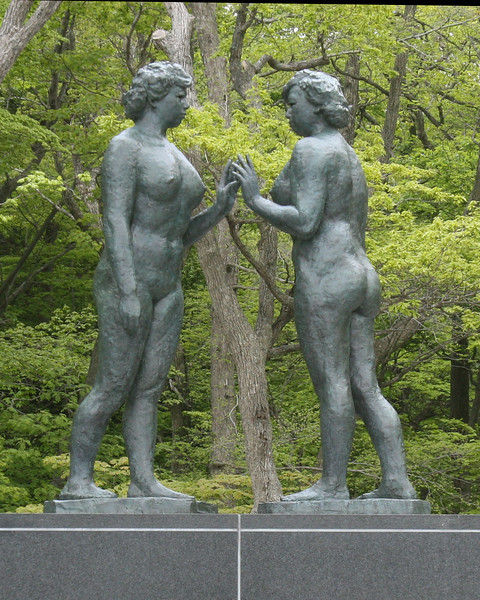 Two Maidens<br /> This beautiful statue can be found at Lake Towada Japan