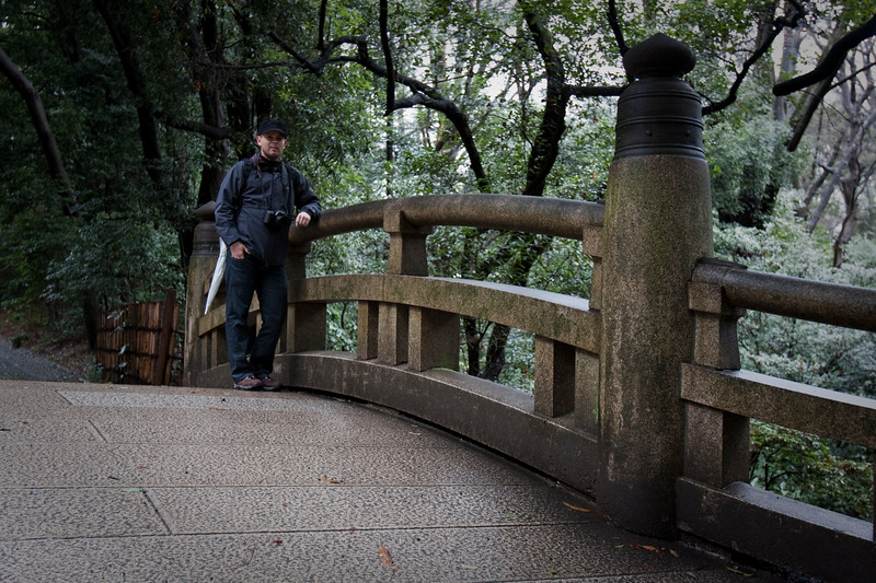 Meiji Shrine ,Tokyo Japan on a rainy day