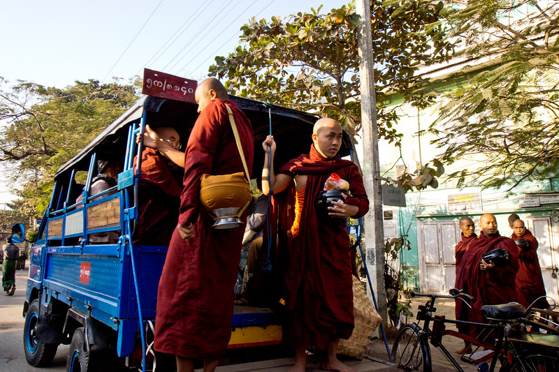 MONKS ON THE BUS
