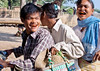 MANDALAY 2013-01-07<br /> Family on a motorbike chewing betel nut at home in a village close to Mandalay.<br /> Photo Maria Langen / Sverredal & Langen AB
