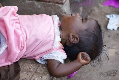 Sad street kid