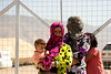 """Iraq Kurdistan 20130915 <br /> Women with a baby at a refugee camp close to the village of Basrma in Kurdistan. As many as 5000 Syrians refugees could be staying in this """"new"""" camp, waiting for the surrounding world to support them in where to go next<br /> Photo Maria Langen / Sverredal & Langen AB"""
