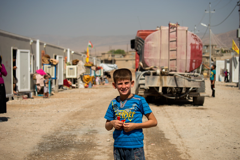"Iraq Kurdistan 20130915  Boy in the refugee camp close to the village of Basrma in Kurdistan. As many as 5000 Syrians refugees could be staying in this ""new"" camp, waiting for the surrounding world to support them in where to go next. Photo Maria Langen / Sverredal & Langen AB"