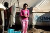 Iraq Kurdistan 20130913<br /> Girl at the Domiz refugee camp in Kurdistan <br /> Photo Maria Langen / Sverredal & Langen AB