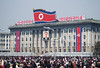 Party HQ and Dancers in Kim Il-Sung square
