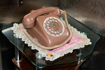 TELEPHONE AND TABLECLOTH