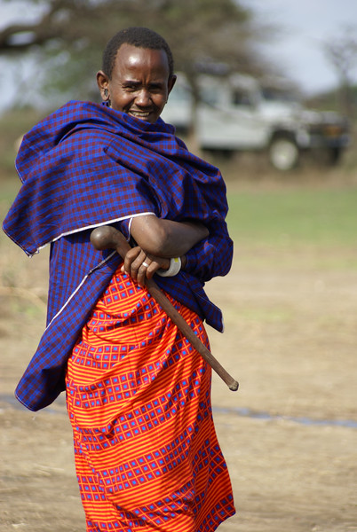 TANZANIA MAASAI VILLAGE 2007-12-14<br /> Maasai people in a village in Tanzania<br /> Photo Maria Langen / Sverredal & Langen AB