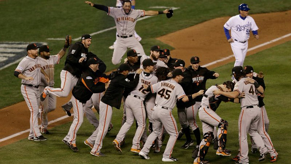 Celebrating winning the World Series.... AGAIN!!    (not my photo)
