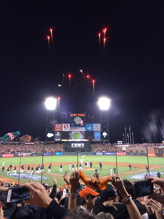 Game 5 goes to the Giants....  start the fireworks!!