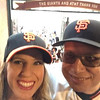 Happy campers, Dani and I leaving AT&T Park after Mad Bum's shutout of KC in game 5