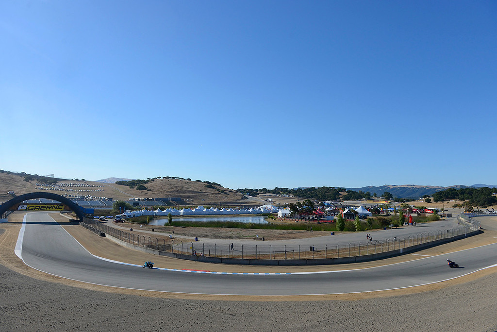 . A practice session during the FIM Superbike World Championship at Mazda Raceway Laguna Seca on Friday, July 7, 2017.  (Vern Fisher - Monterey Herald)