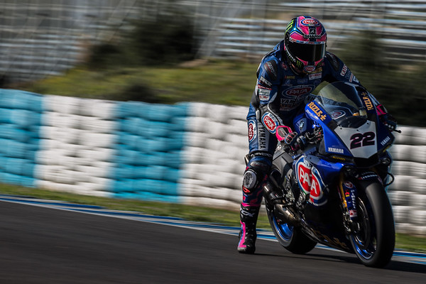 Alex Lowes at Jerez on the Pata Yamaha