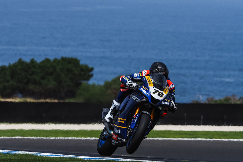 Loris Baz at the Phillip Island WorldSBK test in 2020