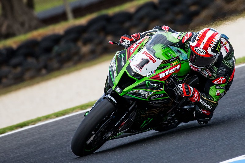 Jonathan Rea on the Kawasaki ZX-10RR at the 2020 Phillip Island WorldSBK round - photo by Steve English