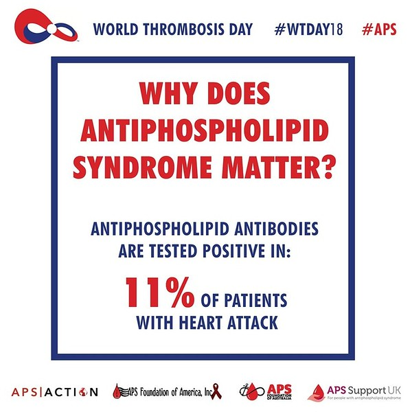 Why does #Antiphospholipid Syndrome (#APS) Matter?  Antiphospholipid antibodies are tested positive in 11% of patients with heart attack. #WTDay18