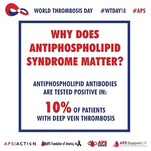 Why does #Antiphospholipid Syndrome (#APS) Matter?  Antiphospholipid antibodies are tested positive in 10% of patients with deep vein #thrombosis (#DVT). #WTDay18