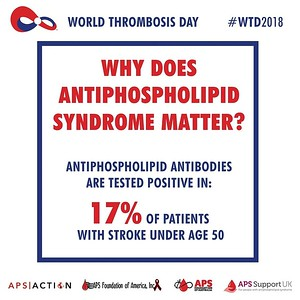 APS ACTION, APS Foundation of America, Inc., APS Support UK - for people with antiphospholipid syndrome and APS Foundation of Australia jointly support World Thrombosis Day.