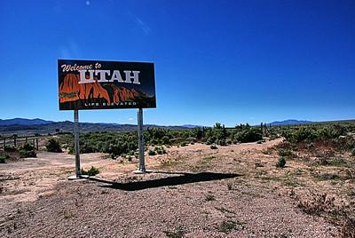 Utah State Line, Utah, USA - 2011.