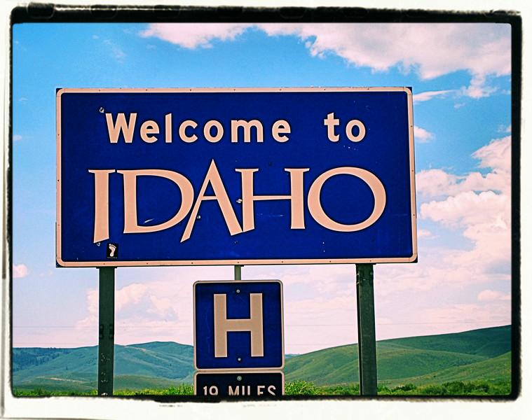 Idaho State Line, Idaho, USA - 2011.