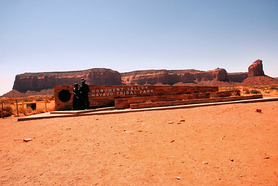 Main Entrance, Monument Valley Navajo Tribal Park, Utah, USA -2011.