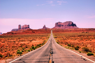 On Our Way To Monument Valley, Utah, USA - 2011.