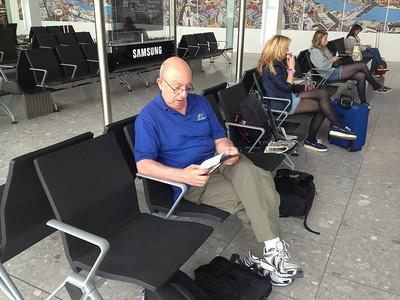 Awaiting For Flight, LHR, UK, USA - 2013.