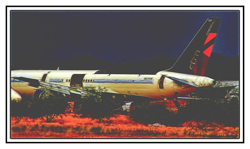 Airplane Graveyard, Tucson, Arizona, USA - 2015.