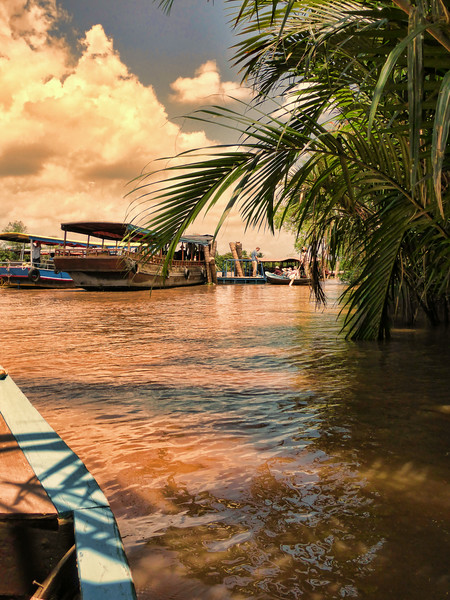 The Mekong Delta Canals, Sampan Tour, Vietnam. - 2014.