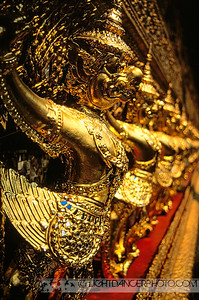 Detail of Garuda on Phra Ubosot, Wat Phra Kaew (Temple of the Emerald Buddha), Grand Palace, Bangkok, Thailand