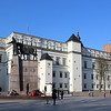 Grand Dukes Palace, with Gediminas Tower (back) and Gedininas Monument (fore), Cathedral Square, Vilnius
