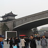 Xi'an City Wall by Railway Station