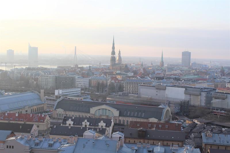 View North over Riga Old Town (Vecrīga)