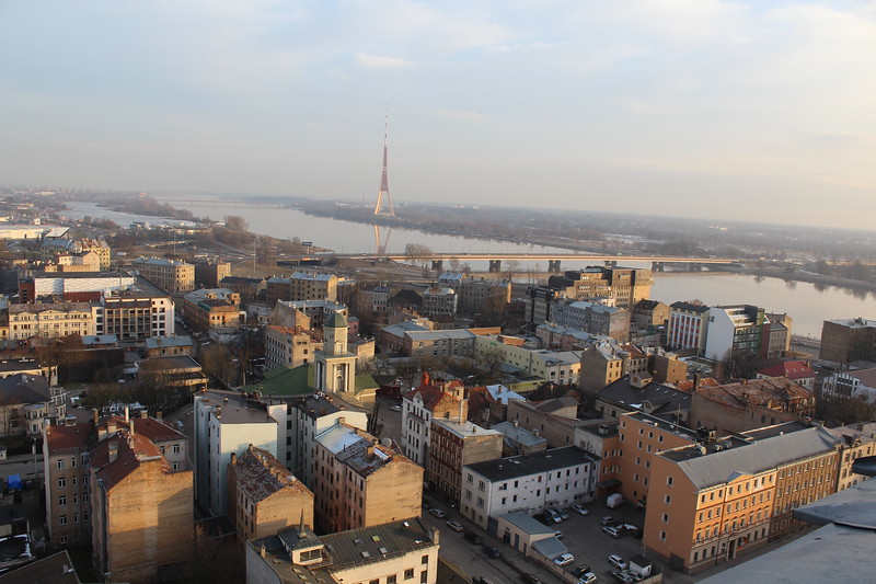 Riga TV Tower and South view of City